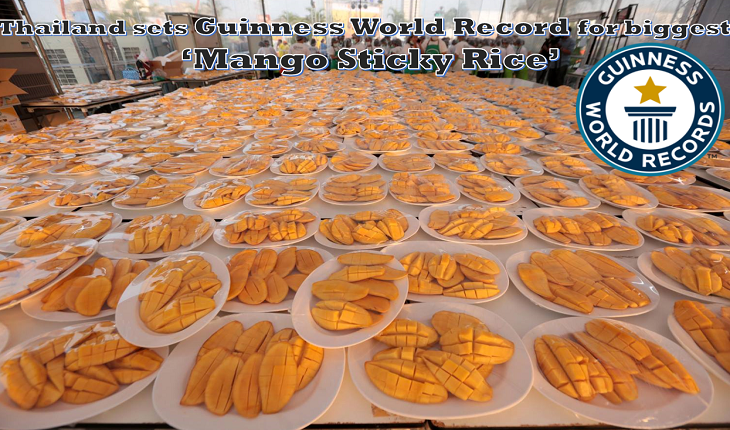 10,000 Chinese tourists, 4,000+ kilograms of mango sticky rice, 1 Guinness world record