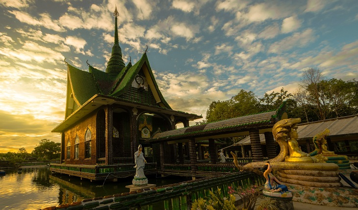 Thailand has a Buddhist temple made of… beer bottles