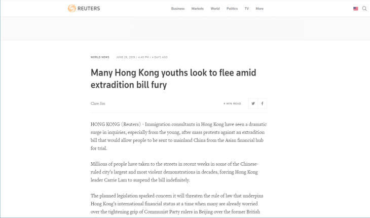 Managing Director Terence Chan featured in  internationally-acclaimed Reuters news report