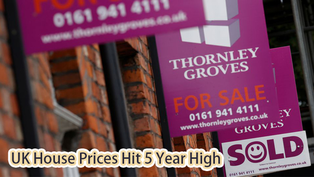UK House Price Index: House Prices Hit 5 Year High