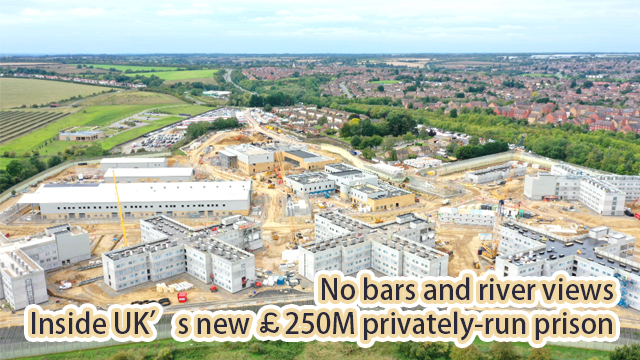 No bars and river views: Inside UK's new £250M privately-run prison