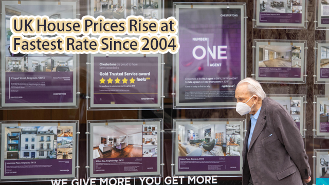 UK house prices rise at fastest rate since 2004