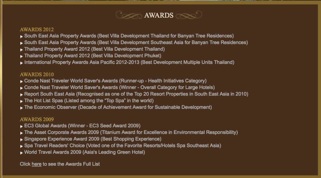 Banyan Tree Awards