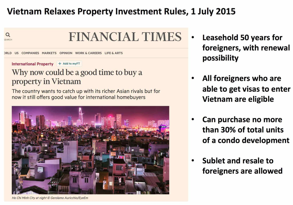foreign ownership of HCMC vietnam property 1 july 2015 new law