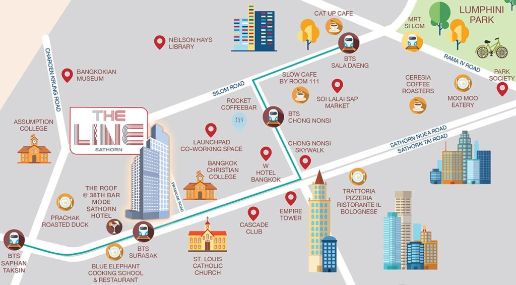 THE-LINE-Sathorn-LocationMap