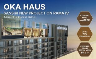 Sansiri's Latest Project on RAMA IV, Adjacent to financial district