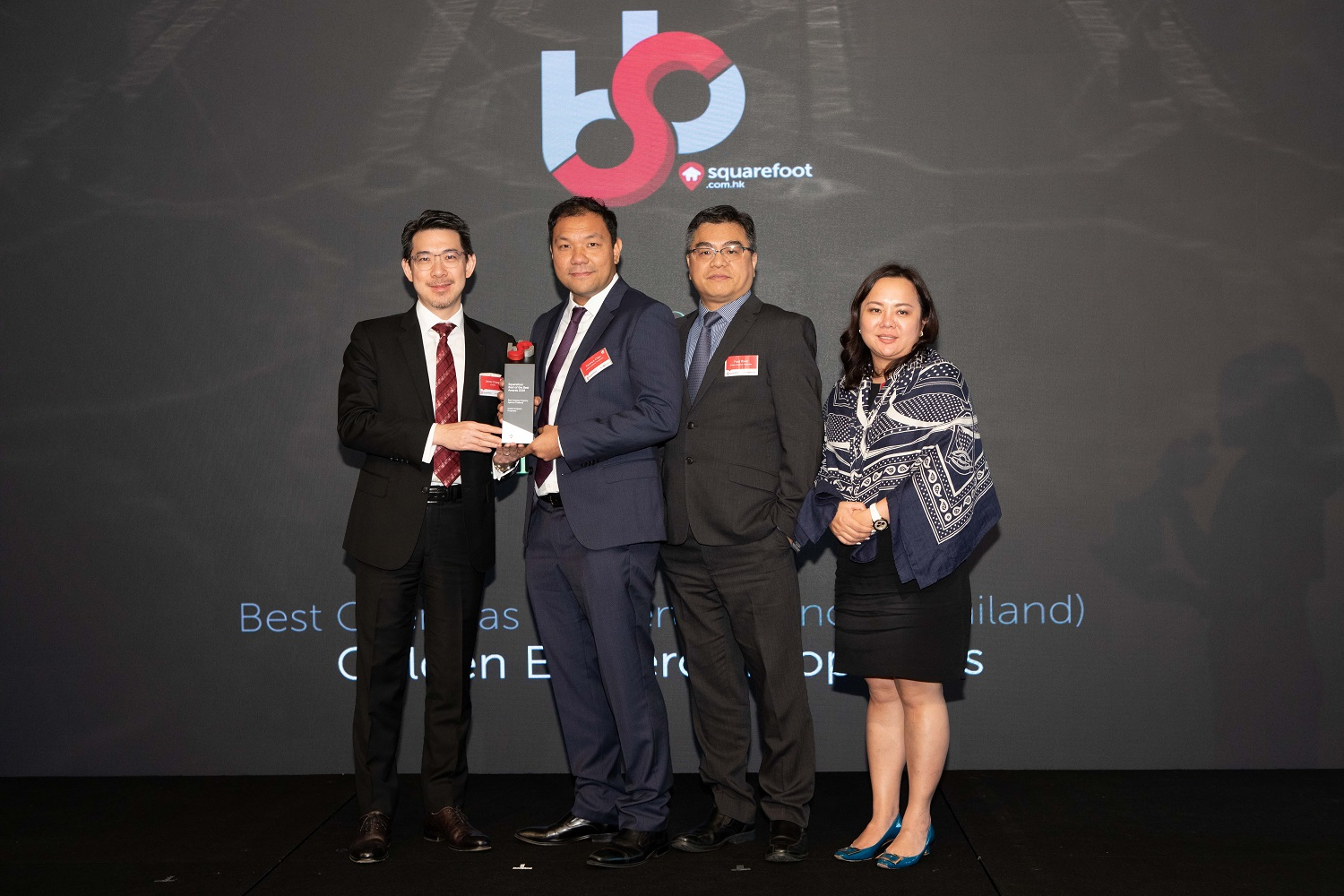 Golden Emperor wins Best Overseas Property Agency  at Squarefoot's Best of the Best Awards 2019
