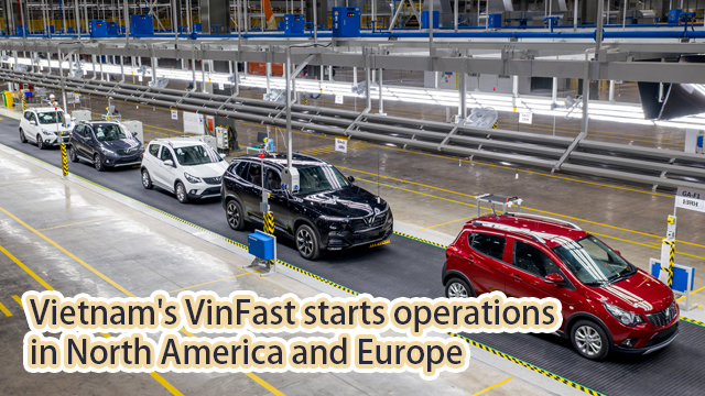 Vietnam's VinFast starts operations in North America and Europe