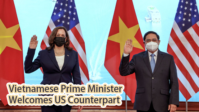 Vietnamese Prime Minister Welcomes US Counterpart